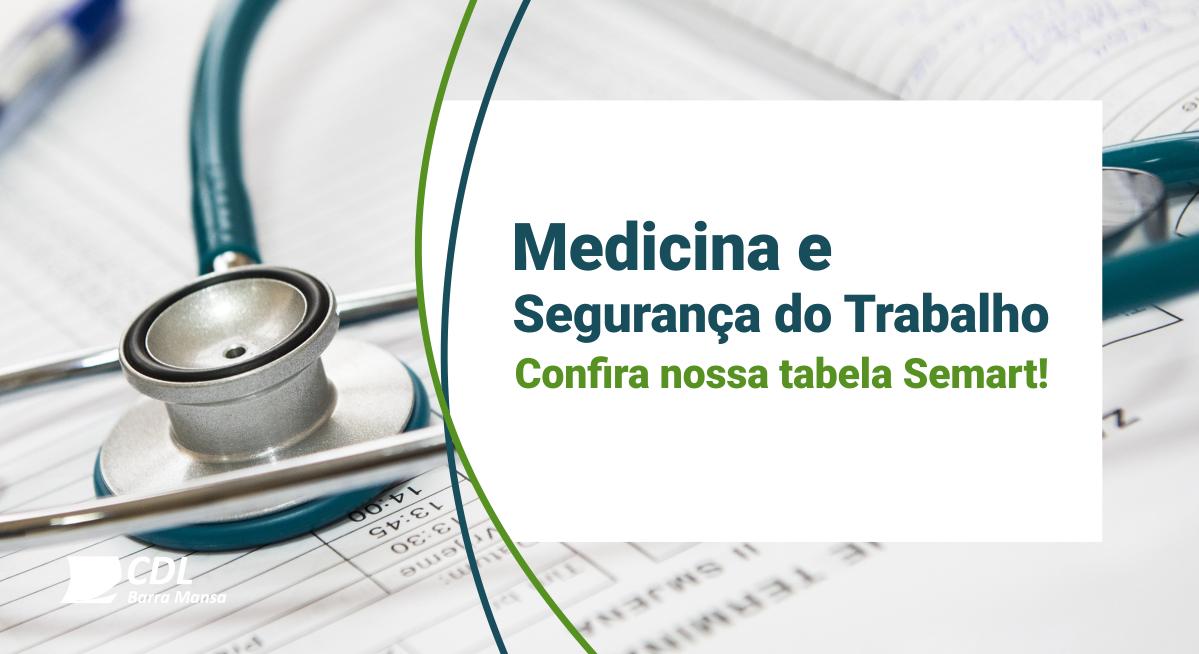 Foto - Nova tabela para seus exames de Medicina do Trabalho!