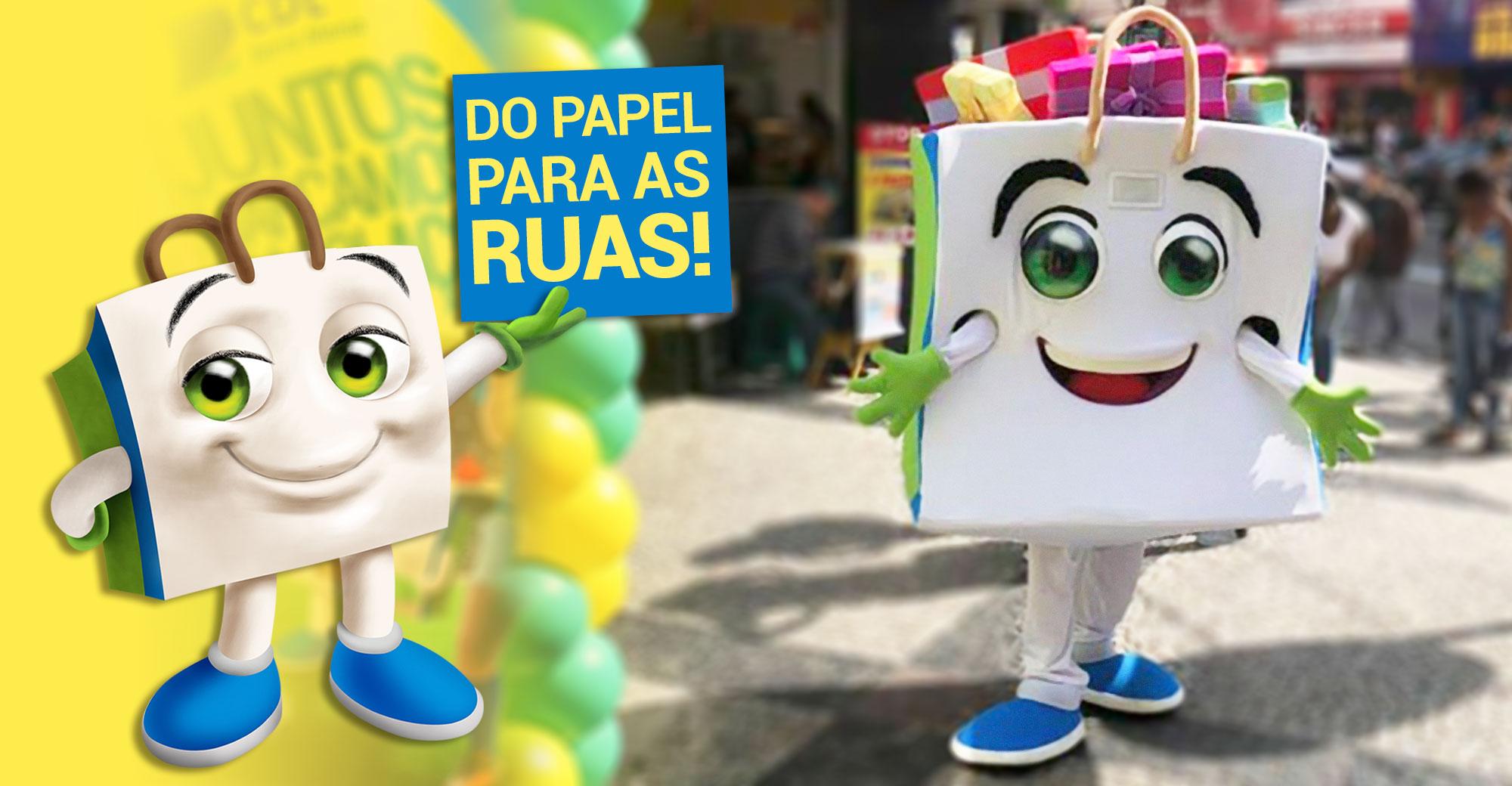 Foto - O mascote Cedelinho nas ruas de Barra Mansa!
