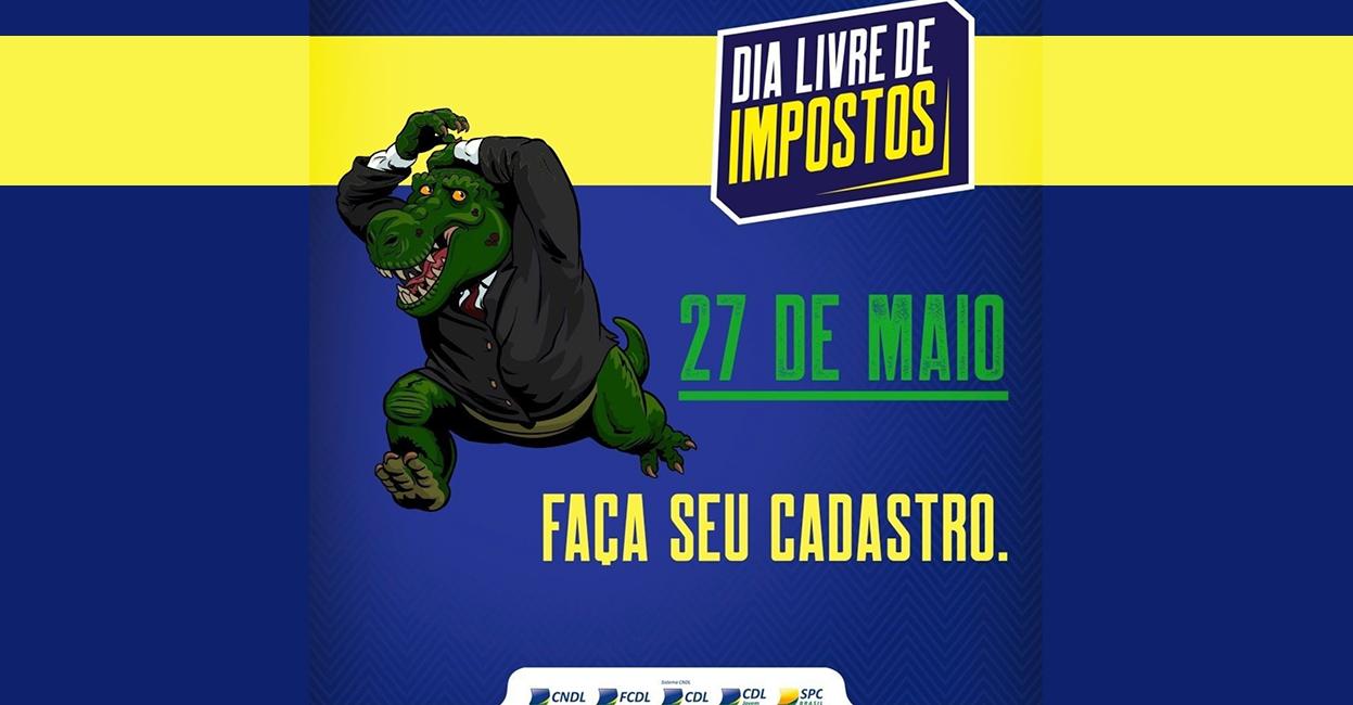 Foto - Impostossauro: O sócio majoritário de todo lojista no Brasil