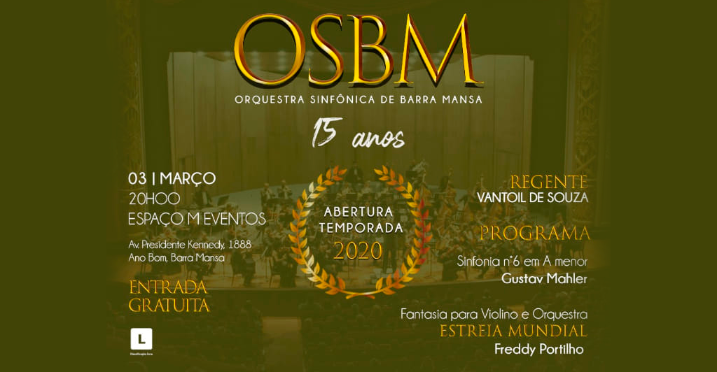 Foto - Abertura da temporada 2020 e início das comemorações de 15 anos da OSBM